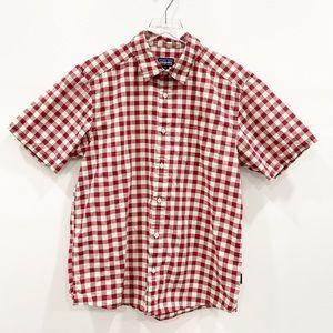 Patagonia Fezzman Shirt Short Sleeve Red Gingham M